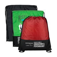 "13-1/2"" W x 17-1/2"" H - Drawstring Cinch Pack Backpack"