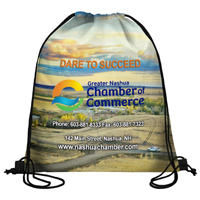 210 Polyester Full Color Sublimation Drawstring Cinch Pack Backpack