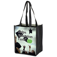 "8"" x 10"" Full Color Glossy Lamination Grocery Shopping Tote Bags"