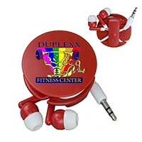 'Wrap and Run' Earbud Headphone Travel Set - Photoimage 4 Color