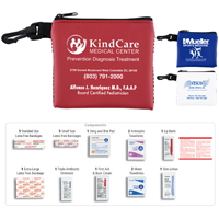 21 Piece All Purpose First Aid Kit in Zipper Mesh Pouch