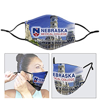 3-Ply Washable & Reusable Custom Mask w/ Ear Loop Adjusters