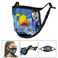 Full Color Sublimation 3-Ply Adjustable Face Mask with Flexible Nose Bridge Wire