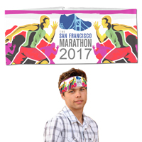 Sporty Headband Headwear Full Color Sublimation - Overseas Production