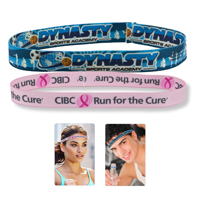 "1/2"" Stretchy Elastic Dye Sublimation Headbands -Full Color Process"