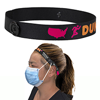 "Mask Buddy Pro 1"" Dye-Sub Elastic Head Band with Buttons"