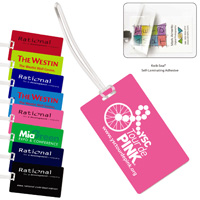 Neon & Stock Color Background Kwik-Seal Luggage Bag Tag*