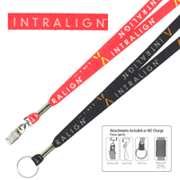 "1/2"" Textured Polyester Multi-Color Sublimation Lanyard"
