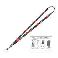 "1/2"" Super Soft Polyester Multi-Color Sublimation Lanyard"