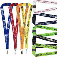 "1"" Silkscreen Lanyard with FREE Breakaway Release"