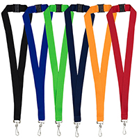 "1"" Blank Lanyard with Breakaway Safety Release Attachment – Swivel Clip"