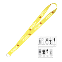 "1"" Super Soft Polyester Multi-Color Sublimation Lanyard"