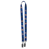 "3/4"" Width Dual Attachment Super Soft Polyester Lanyard"