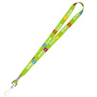 "3/4"" Super Soft Polyester Multi-Color Sublimation Lanyard"
