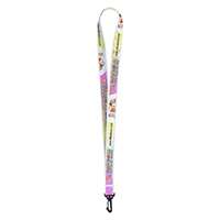 "3/4""Super Soft Polyester Multi-Color Sublimation Lanyard"