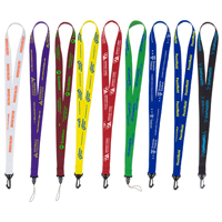 "3/4"" Supersoft Polyester Silkscreen Lanyard"