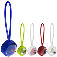 Clear Cover Vanilla Scented Lip Moisturizer Ball with Leash Strap