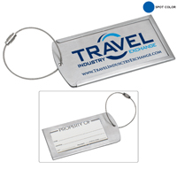 Prestige Brushed Metal Luggage Bag Tag (Spot Color)