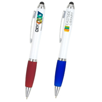 'The Guru' White Body Stylus Pen (PhotoImage 4 Color Process)