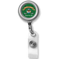 Cord Round Matte Solid Metal Retractable Badge Reel and Badge Holder