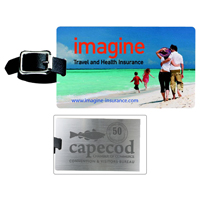 Brushed Aluminum Slip-In Pocket Luggage Bag Tag (PhotoImage Full Color)Bag Tag (PhotoImage 4 Color)