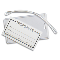 Clear Slip-In Pocket Luggage Bag Tag (Blank)