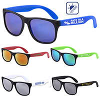 Colored Mirror Tint Lens Sunglasses with Mattte Frame