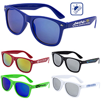 Colored Mirror Tint Lens Sunglasses with High Gloss Frame