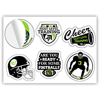 One-Sheet Full Color Custom Shape Removable Vinyl Sticker/Decals