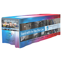 4-Sided Fitted Style Table Covers & Table Throws Full Color Dye Sublimation Imprint - Fits 6' Foot Table