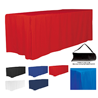 4-Sided Fitted Style 8 ft Table Cloth & Covers - (Blanks)
