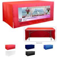 6' 3-Sided Economy Open Corner Table Covers & Table Throws (PhotoImage Full Color) / Fit 6 Foot Table