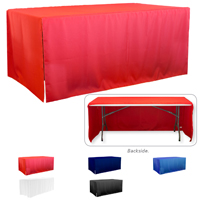 8' 3-Sided Economy Open Corner Table Covers & Table Throws (BLANK) / Fit 8 Foot Table