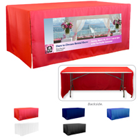 8' 3-Sided Economy Open Corner Table Covers & Table Throws (PhotoImage Full Color) / Fit 8 Foot Table