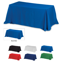 4-Sided Throw Style 8 ft Table Cloth & Covers -Blanks