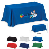 4-Sided Throw Style 8 ft Table Cloth & Covers (PhotoImage 4 Color)