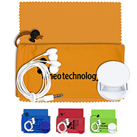 Mobile Tech Auto Accessory Kit in Microfiber Cinch Pouch