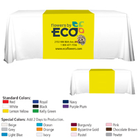 "6' or 8' - 90"" L Table Runners (PhotoImage Full Color) / Fit 6 or 8 Foot Table"