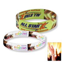 "3/4"" Stretchy Elastic Dye Sublimation Wristbands - Full Color Process"