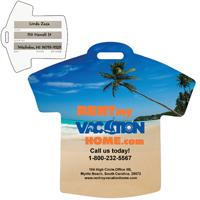 Stock Shape Beach Scene T-Shirt Luggage Bag Tag*