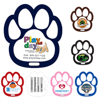 Stock Shape Paw Luggage Bag Tag