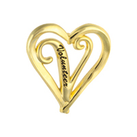 Volunteer Heart Gold Pin