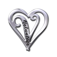 Volunteer Heart Silver Pin