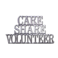 Care Share Volunteer Large Silver Pin