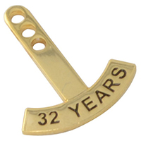 Yearly Milestone Rocker Pins (Curved)