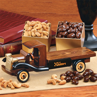 1930-Era Flat Bed Truck with Chocolate Covered Almonds & Extra Fancy Jumbo Cashews