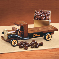 1930-Era Flat Bed Truck with Chocolate Covered Almonds