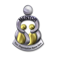 Mentor Silver/Gold Pin Generic & Personalized