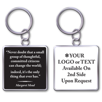 "Keychain With Quote""Change The World"""