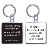 "Keychain With Quote ""Make A Life"""